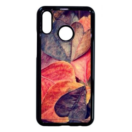őszi autumn fa falevél mintás Huawei fekete tok