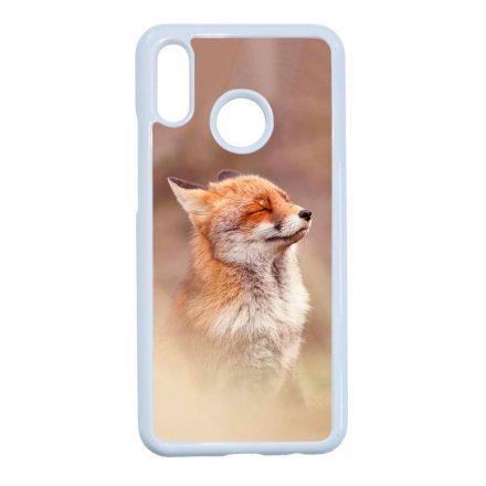 róka rókás fox Huawei fehér tok