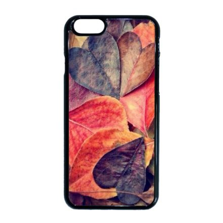őszi autumn fa falevél mintás iPhone fekete tok
