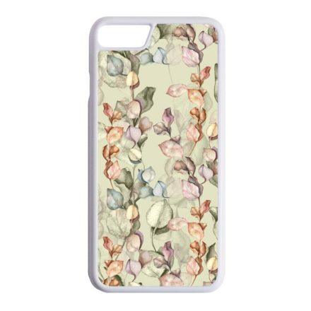 Vintage Ősz virág mintás iPhone fehér tok