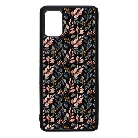 Csodaszép őszi virágmintás vintage Samsung Galaxy fekete tok